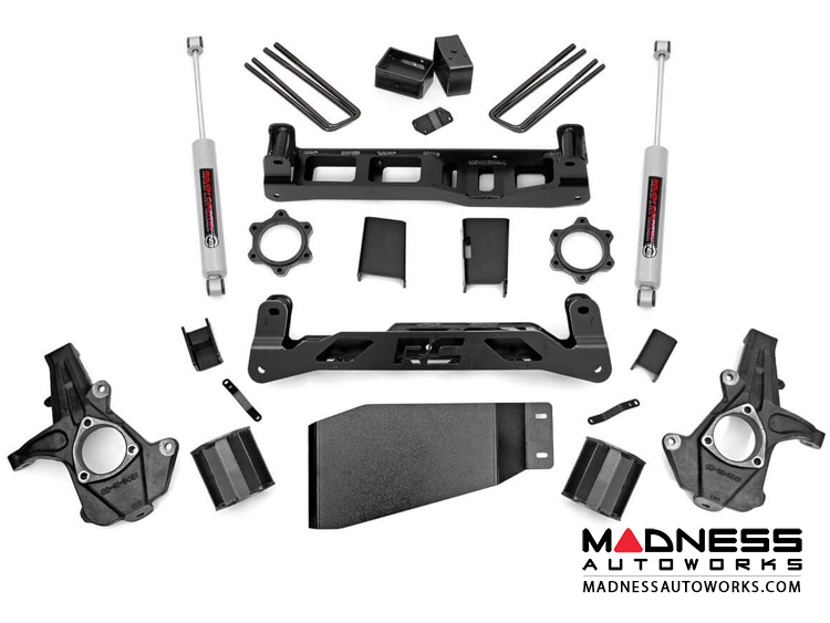 "Chevy Silverado 1500 4WD Suspension Lift Kit w/ Premium N3 Shocks - 5"" Lift"